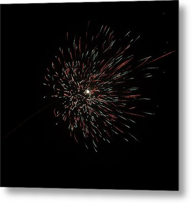 Colorful Burst Of Firecrackers High In The Sky Metal Print by Ashish Agarwal