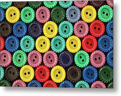 Colorful Buttons Metal Print by Jeff Suhanick
