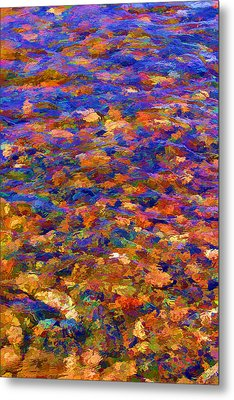 Metal Print featuring the digital art Colorful Clear Creek by Brian Davis