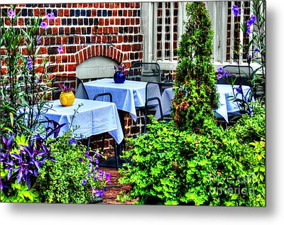 Colorful Dining Metal Print by Debbi Granruth
