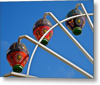 Colorful Ferris Wheel In Glenelg Metal Print