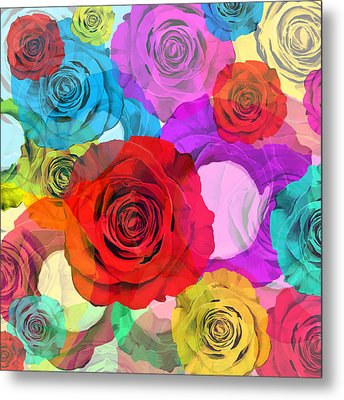 Colorful Floral Design  Metal Print