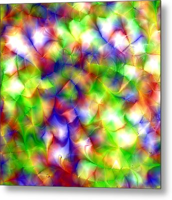 Colorful Fractal Abstract  Metal Print