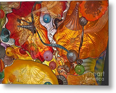 Metal Print featuring the photograph Colorful Glass Still Life by Valerie Garner