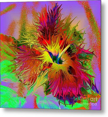 Colorful Hibiscus Metal Print by Doris Wood