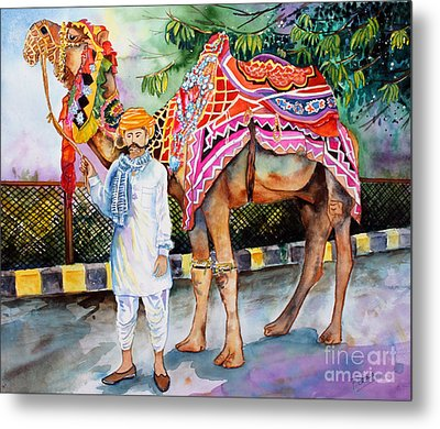 Metal Print featuring the painting Colorful India by Priti Lathia