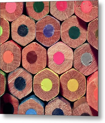 Colorful Painting Pencils Metal Print by Erdem Civelek visual