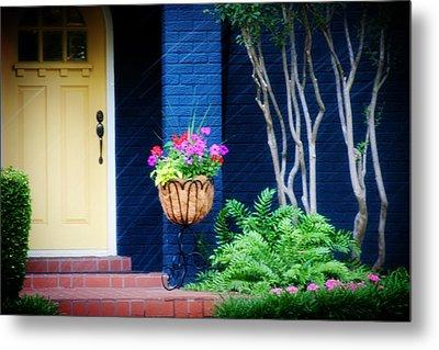 Colorful Porch Metal Print by Toni Hopper