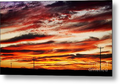 Colorful Rural Country Sunrise Metal Print by James BO  Insogna
