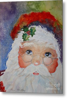 Colorful Santa Metal Print by Terri Maddin-Miller