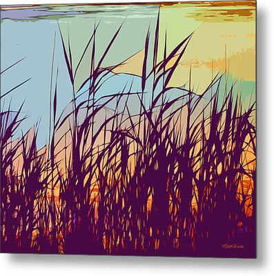 Colorful Seagrass Metal Print by Michelle Wiarda