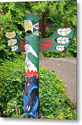 Colorful Totem Metal Print by Susan Leggett