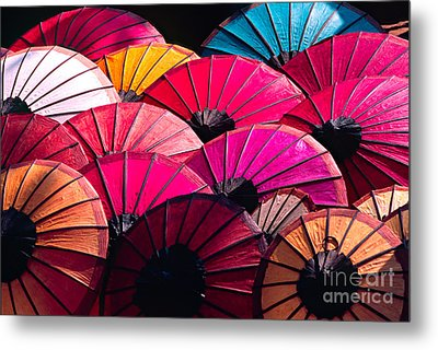 Metal Print featuring the photograph Colorful Umbrella by Luciano Mortula