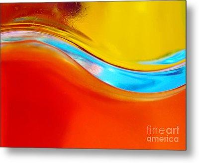 Colorful Wave Metal Print by Carlos Caetano