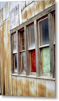 Metal Print featuring the photograph Colorful Windows by Fran Riley