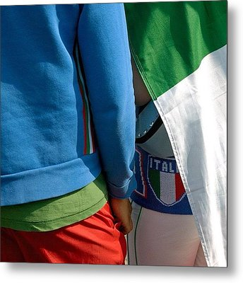 Colors Of Italy - Green White And Red Metal Print