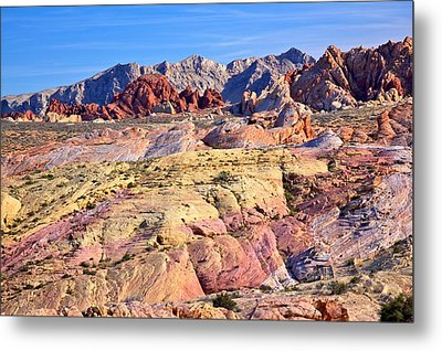 Metal Print featuring the photograph Colors Of The Valley Of Fire by Joe Urbz