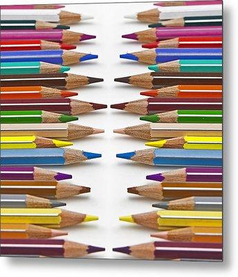 Coloured Pencil Metal Print by Joana Kruse