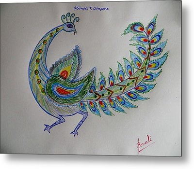 Colourful Bird Metal Print by Sonali Gangane