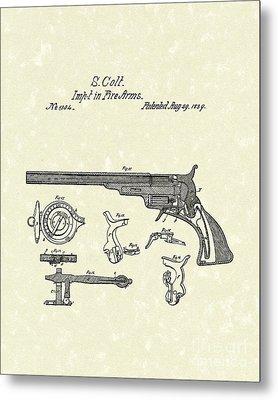 Colt Firearms 1839 Patent Art Metal Print by Prior Art Design