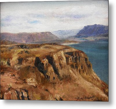 Metal Print featuring the painting Columbia River Gorge I by Lori Brackett