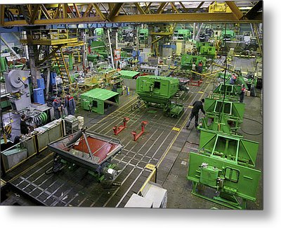 Combine Harvester Production Line Metal Print by Ria Novosti