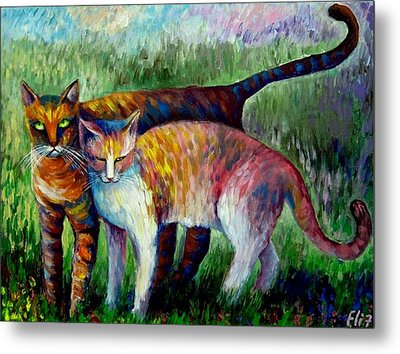 Come To See My Parents Metal Print by Elisheva Nesis