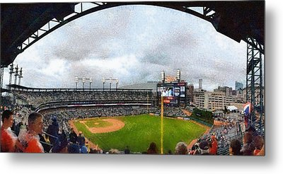 Comerica Park Home Of The Detroit Tigers Metal Print