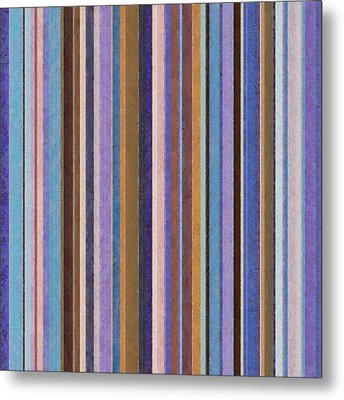 Comfortable Stripes Ll Metal Print by Michelle Calkins