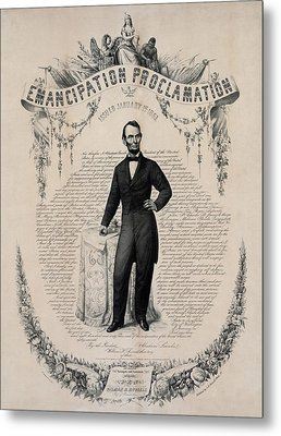 Commemorative Print Of Abraham Lincoln Metal Print by Everett