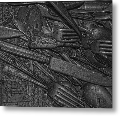 Common Cutlery  Metal Print by Empty Wall