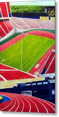 Commonwealth Stadium- Competition Metal Print by Chris Ripley
