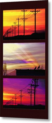 Communications Triptych Metal Print by Steve Ohlsen