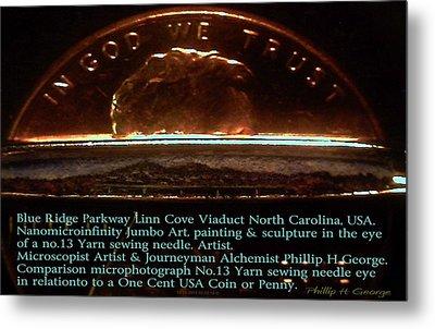 Comparison Microphotograph  Metal Print by Phillip H George