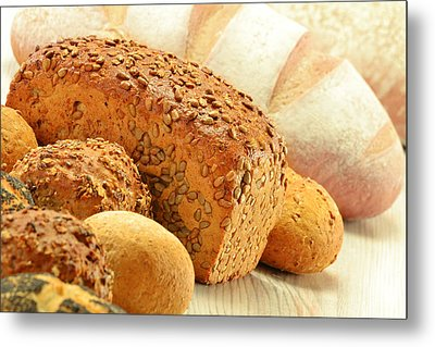 Composition With Bread And Rolls Metal Print by T Monticello