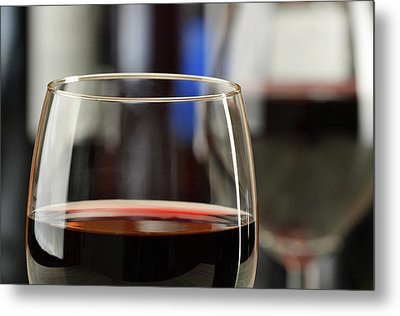 Composition With Glasses And Bottles Of Wine Metal Print