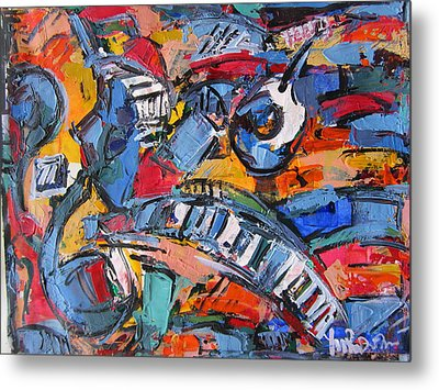 Composition With Music Metal Print