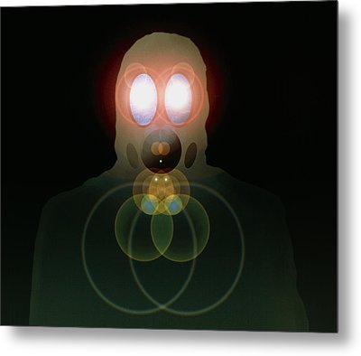 Computer Artwork Of A Figure Wearing A Gas Mask Metal Print by Laguna Design
