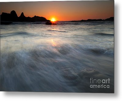 Concealed By The Tides Metal Print by Mike  Dawson