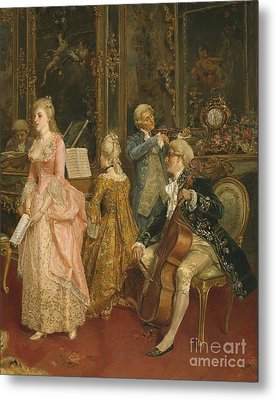 Concert At The Time Of Mozart Metal Print by Ettore Simonetti