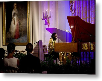 Concert Pianist Awadagin Pratt Performs Metal Print by Everett