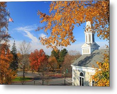 Concord Massachusetts In Autumn Metal Print by John Burk