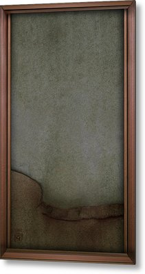 Metal Print featuring the digital art Concrete And Copper by Jean Moore