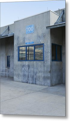 Concrete Building In A Prison Exercise Metal Print by Roberto Westbrook