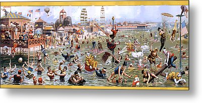 Coney Island Metal Print by Charles Shoup
