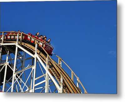 Coney Island Cyclone Metal Print by Diane Lent