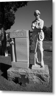 Confederate Soldier Memorial Metal Print by Kathy Clark