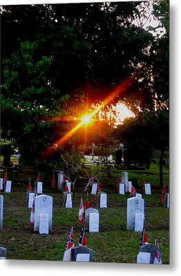 Confederate Sunset Metal Print