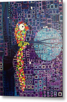 Metal Print featuring the painting Confetti Bird by Donna Howard