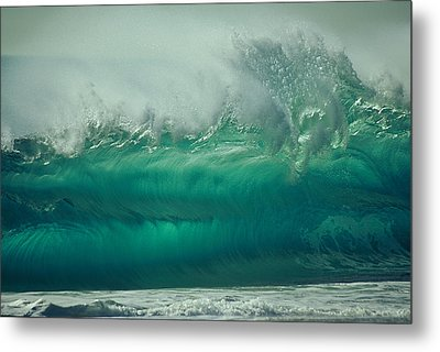 Confusion In Torquoise Metal Print